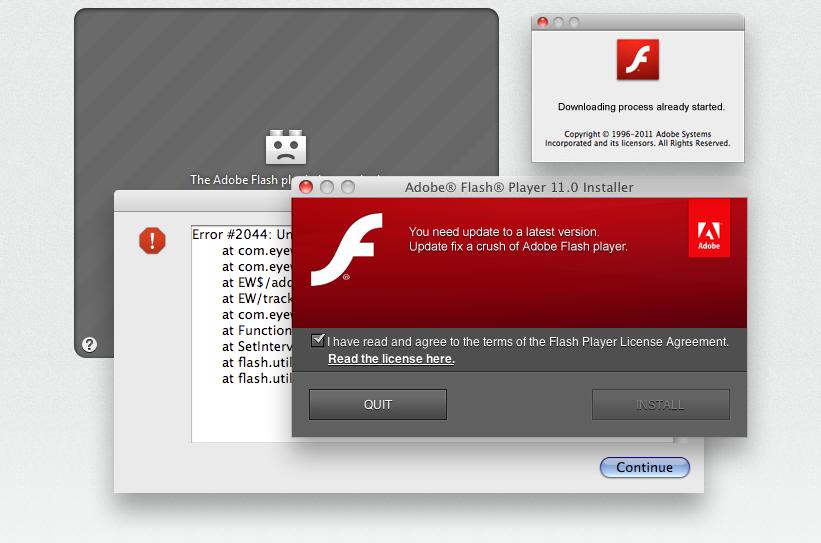 Adobe Flash Error