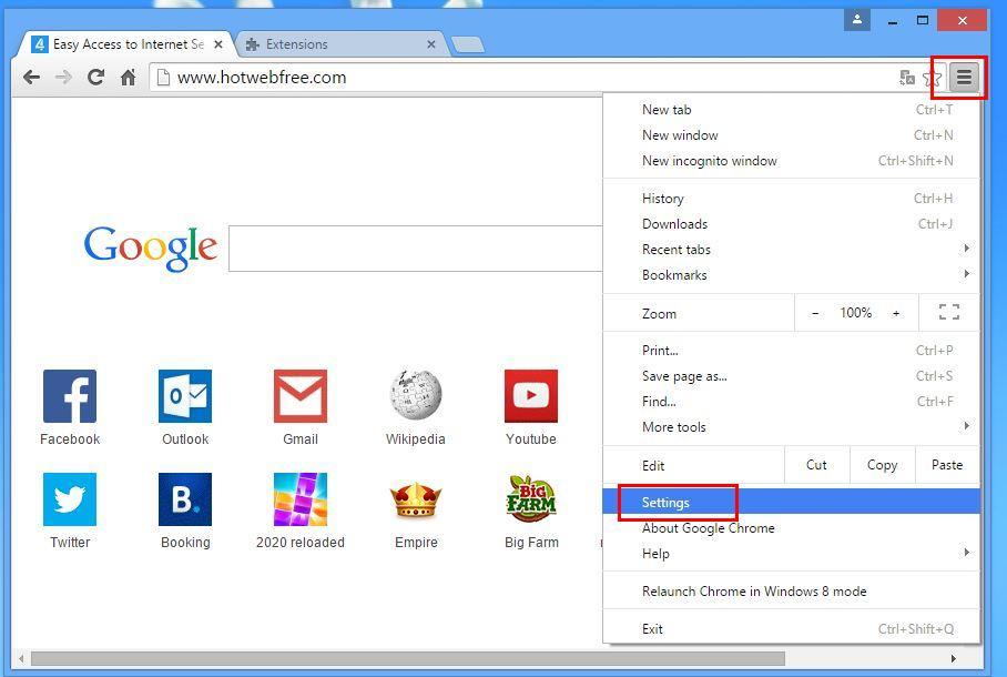 how to change homepage on windows 7 google chrome