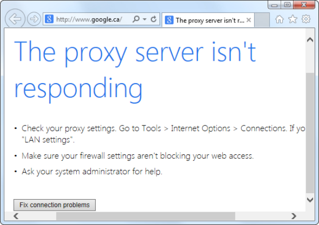 How to get rid of 'The proxy server is not responding' | The Perfect