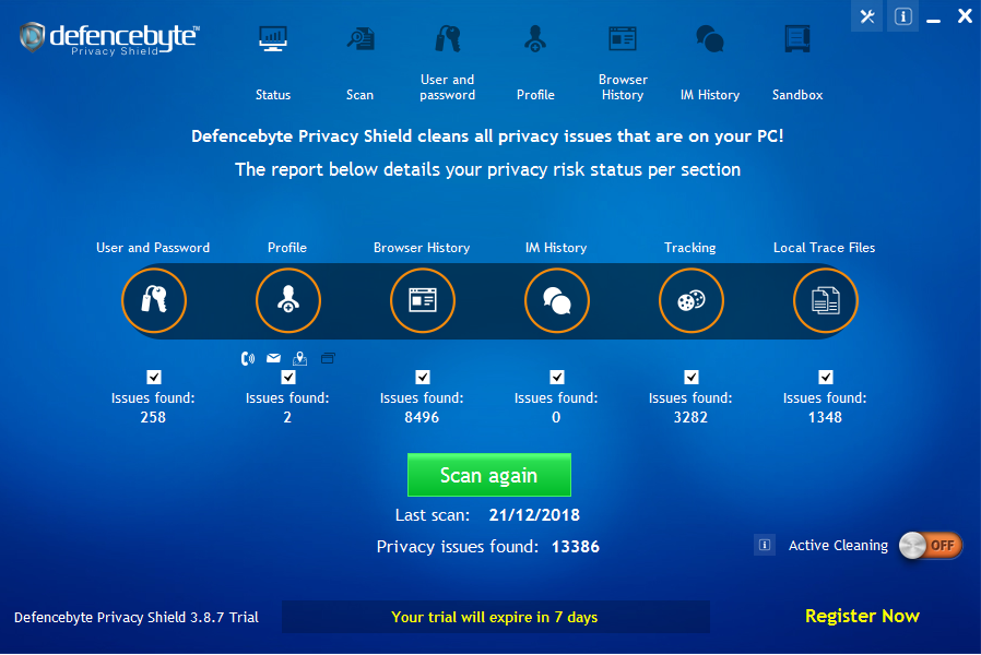 Privacy protect software